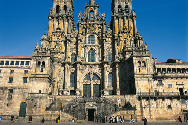 Santiago's impressive cathedral.